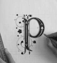 Hand Lettering on Behance #ink #typography #p #let #cap #drop #sharpie #dropcap