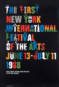 Ivan Chermayeff, NY Film Festival #festival #vintage #poster #aiga #typography