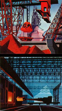 1959, Rhapsody of Steel. Industrial illustration