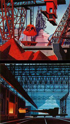 1959, Rhapsody of Steel. Industrial illustration
