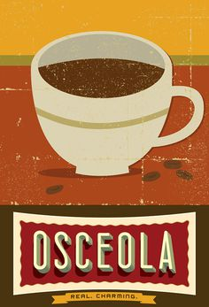 Osceola Coffee #branding #coffee #package design