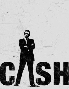 Johnny Cash #illustration #white #black
