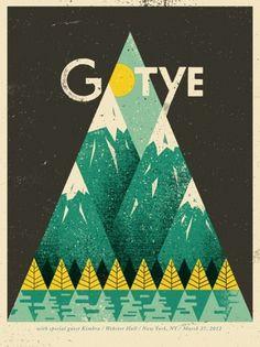 GigPosters.com - Gotye - Kimbra #gig #doe #poster #type #eyed