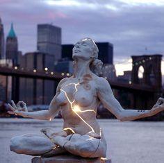 Eat Like a Whale, Curse Like a Sailor #meditation #statue #art #york #new