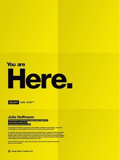Design Month 2011 on the Behance Network #folds #modern #yellow #black #boxes #minimal #poster #gold