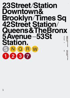 #NewYork / #NYCUnderground / #Poster / #Helvetica / #Vignelli