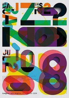 Berne Jazz Nights #poster #jazz #color