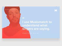 Musixmatch, story visualisation. #UI