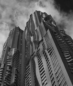 New York by Gehry at 8 Spruce Street | We Heart: Essential Lifestyle Guide #gehry #building #architecture #frank #york #new