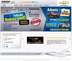 Portal Web Corporativo 2012 / Calima Motor #pereira #exusmultimedia #herduin #exus #design #black #colombia #webdesign #web #blue #car