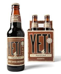 Great Divide Yeti #packaging #beer #bottle