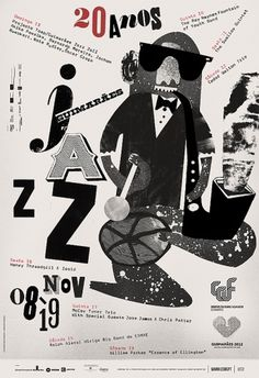 Guimaraes Jazz - F C H i C H K 'L #illustration #poster #typography