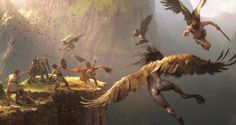 thrax The Hunt Jose Daniel Cabrera Peña #greek #jason #argonauts #mythology #illustration #golden #harpies #fleece #hunt