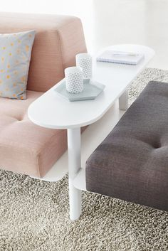 Docks Furniture System — Björn Meier & Till Grosch #interior design #furniture #gray #pink #couch