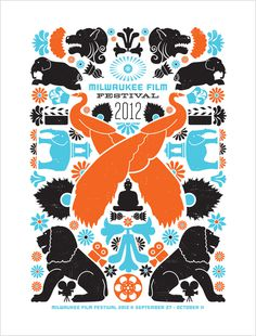 Poster design for 2012 Milwaukee Film Festival. #milwaukee #milwaukeefilm #orientaltheatre #illustration