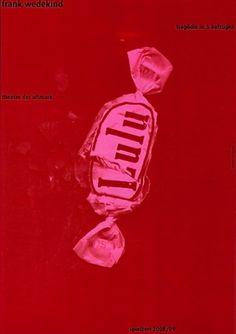 Baubauhaus. #red #lulu #pink #design #frank #wedekind