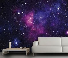 Galaxy Fleece Wall Mural #home #poster #galaxy
