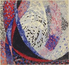 MoMA | The Collection | František Kupka. Amorpha: Fugue in Two Colors. (1912) #illustration #drawing #art
