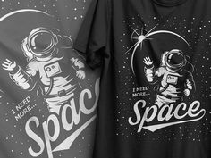 Vector Logo design. Space theme.