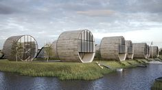 Futuristic architecture – 12 single family rolling homes