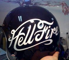 FFFFOUND! | April « 2010 « Amercian Love Machine Blog #helmet #lettering #typography