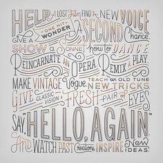 Lincoln Now | What is Hello Again? | Lincoln.com #typography