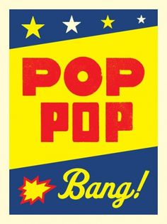 pop_pop_bang.jpg 488×650 pixels #bright #print #letterpress #type #colour