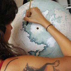 painting a globe