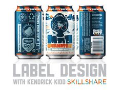 Labeldesign_skillshare_kendrickkidd #design #package design #can