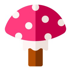 See more icon inspiration related to Fungi, food and restaurant, Muscaria, organic, vegan, healthy food, diet, vegetarian, mushroom, vegetable, nature and food on Flaticon.