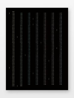 "18"" x 24"" Minimalist 2017 Wall Calendar by Kyle Eertmoed at Knoed. #minimal #poster #design #graphicdesign #simple #foilstamp #modern"