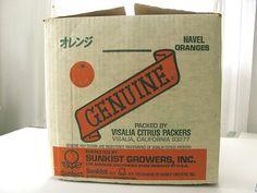 Wary Meyers #crate #oranges #display #orange #box #genuine #ribbon #type