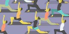 Bikram Yoga #flat #vector #design #illustration #yoga #stretch