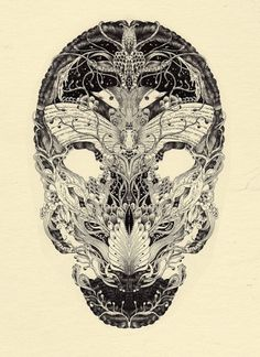 meyoko, híbridas creaciones | lamono magazine #illustration #skull