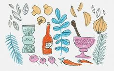 Simon Roy #illustration #simonroy #book #food