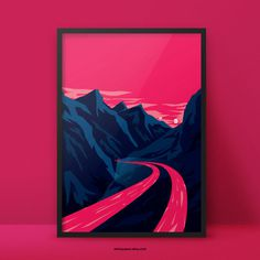 Explorer Drone Fineartprint - In Space? Poster Series by Aleksandar Papez - Buy on Etsy http://etsy.me/1HflX0u #universe #explorer #sun #sky #pink #finartprint #space #colour #mountains #moons #poster #scan #blue #postcard #complementary #planet #drone