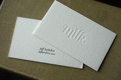 Milk #business #oink #letterpress #hoban #milk #cards