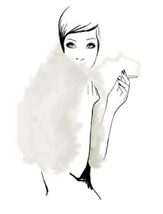 Illustration by Garance Doré #marker #glamour #illustration #soft #fashion