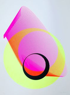 "curate1k:$650EjectaKate Banazisilkscreen print, edition of 322"" x 29.9"" make it mine #neon"