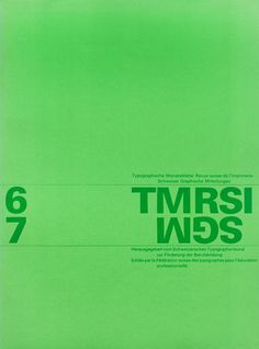 Cover from 1963 Typographische Monatsblätter issue 6/7