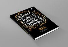 Três bichos te esperam, quatro te comerão on Behance #lettering #ink #tree #orange #book #cover #handmade