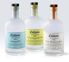 Dillon's Small Batch Distillers, Designed by Insite Design #packaging #bottle #liquor #typography