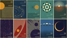 Year of Astronomy poster design | David Airey, graphic designer #modernism #minimalist #simon page