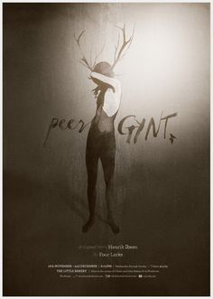 Peer Gynt - Stephanie Butterworth #branding #theatre #photomontage #poster #collage #monochromatic