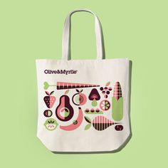 Olive & Myrtle #tote #lab #fruit #geometric #bag #partners