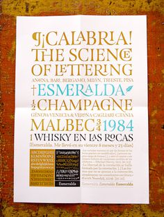 Esmeralda Typeface — Guillermo Vizzari (2012) #capitularis #roman #typography