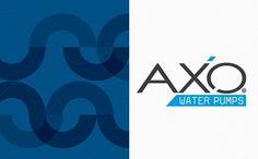 Axo Group on the Behance Network #logo #cyan #colour #texture