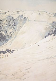 White Creep #mountain #color #composition #peter #painting #doig