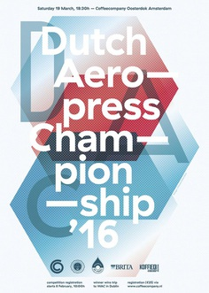 dutch aeropress championship, by vincent meertens - typo/graphic posters