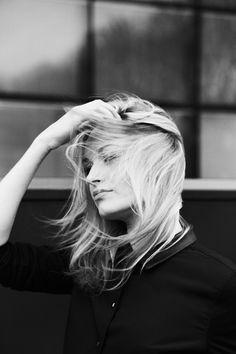 Justine Nikolaiev by Thomas Babeau #white #black #photography #portrait #and